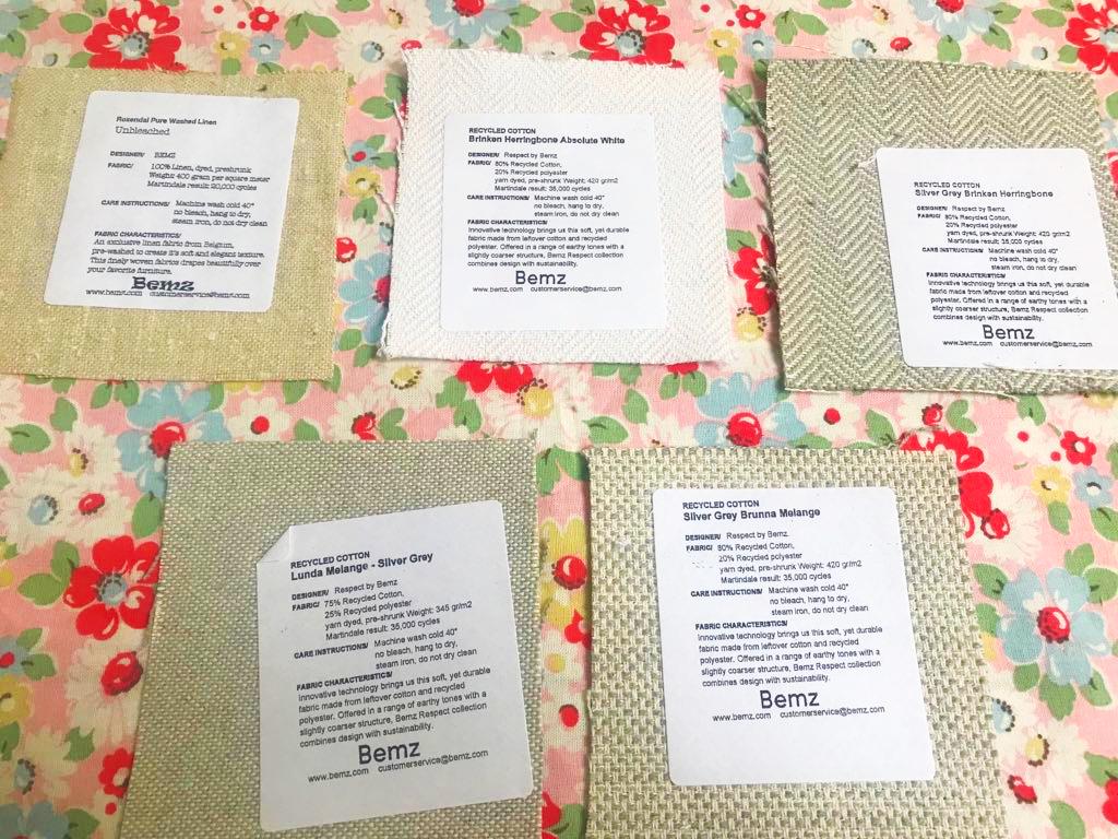 free bemz fabric samples