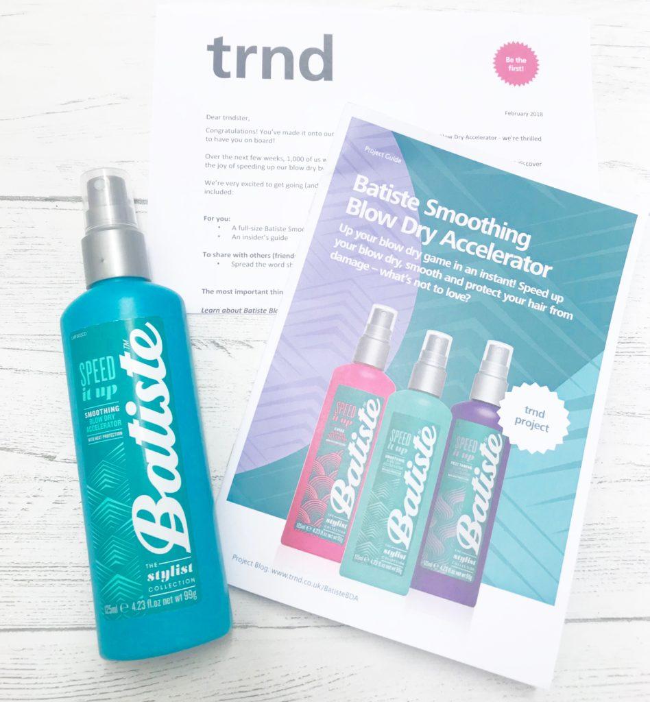 free trnd batiste dry shampoo blow dry
