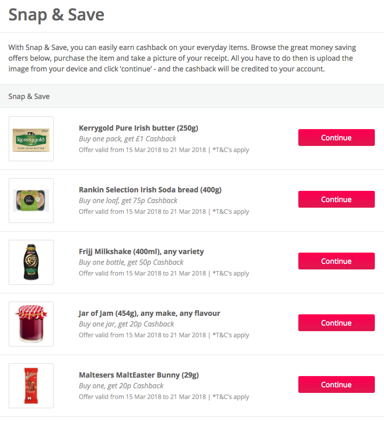earn cashback on your next supermarket shop