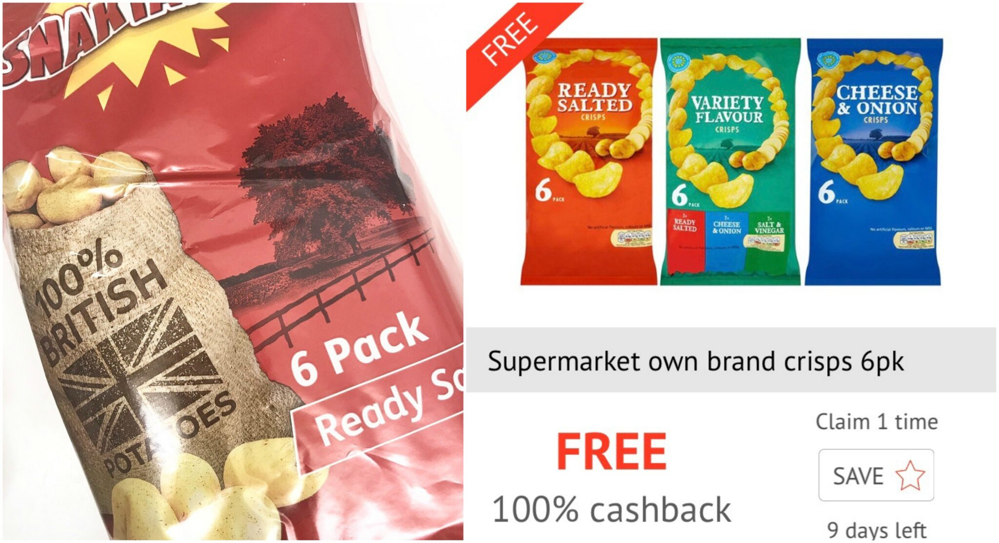 Free crisps on checkoutsmart
