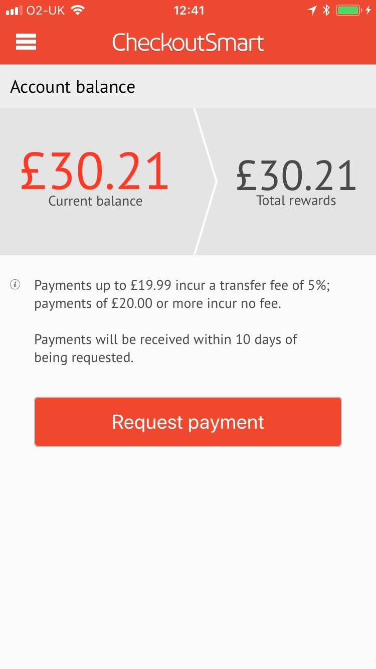 supermarket cashback app payout checkoutsmart