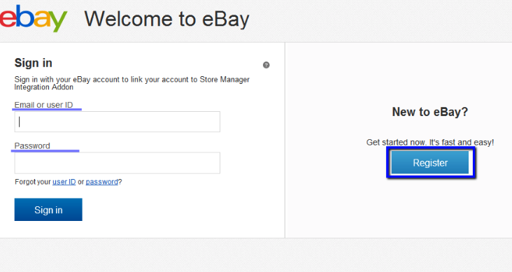 how to sign up to ebay