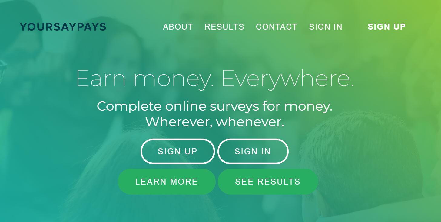 your say pays survey site