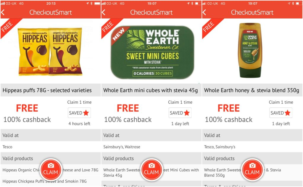 Checkoutsmart free food & drink
