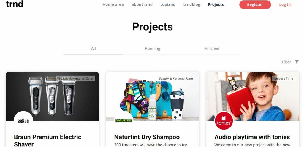trnd product testing website