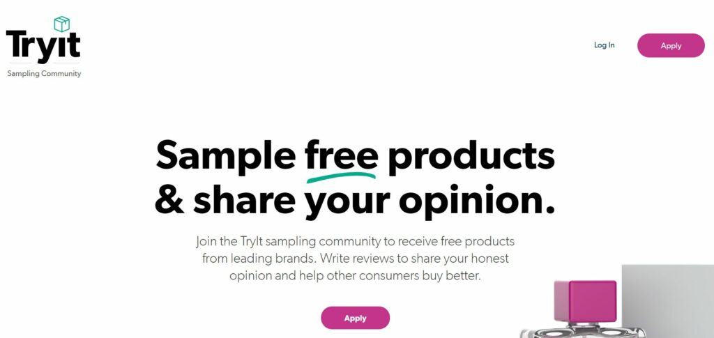 tryit product testing sampling opportunities app and website