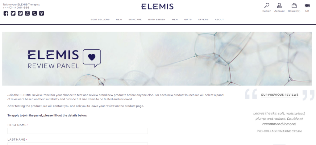 Elemis review panel product testing