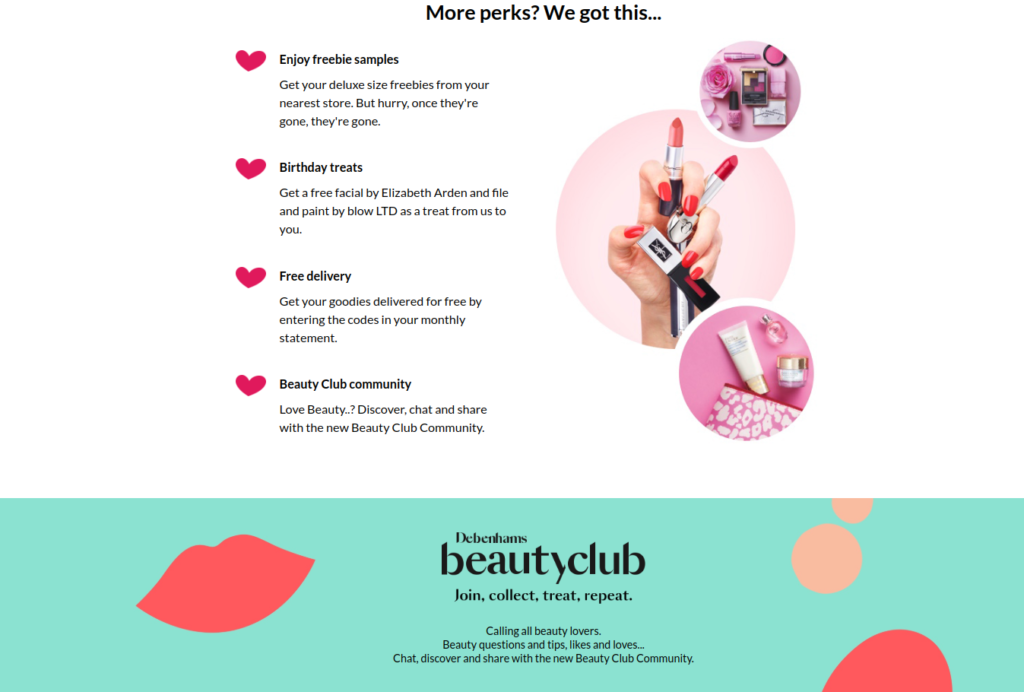 Debenhams beauty club product testing opportunities