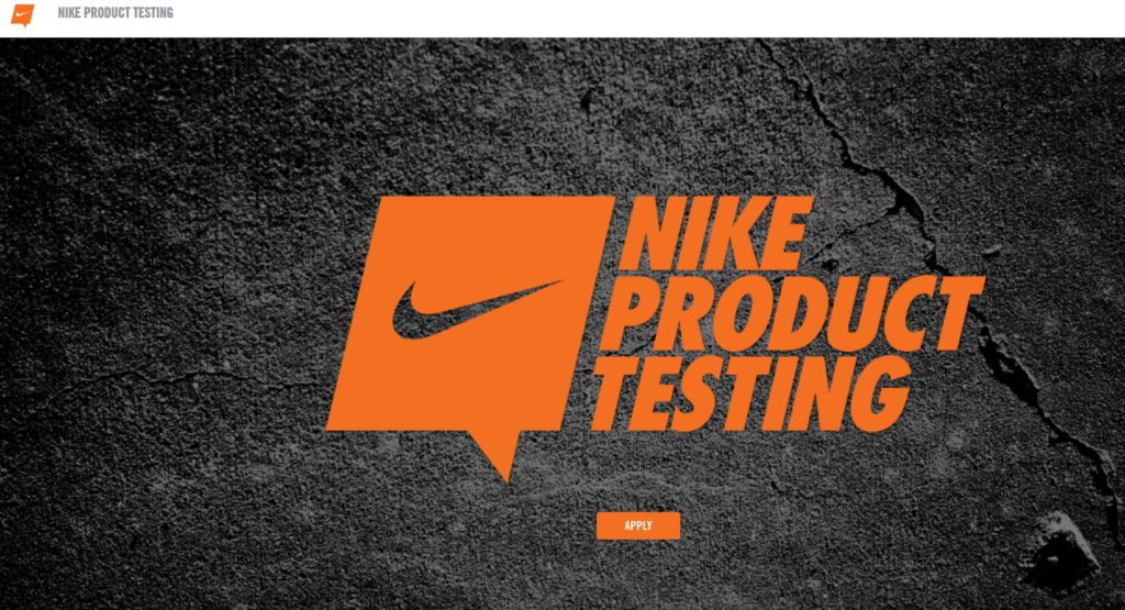 nike product testing site
