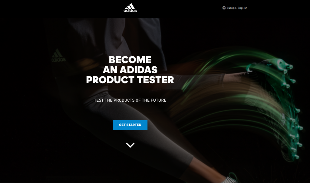 adidas product testing opportunities