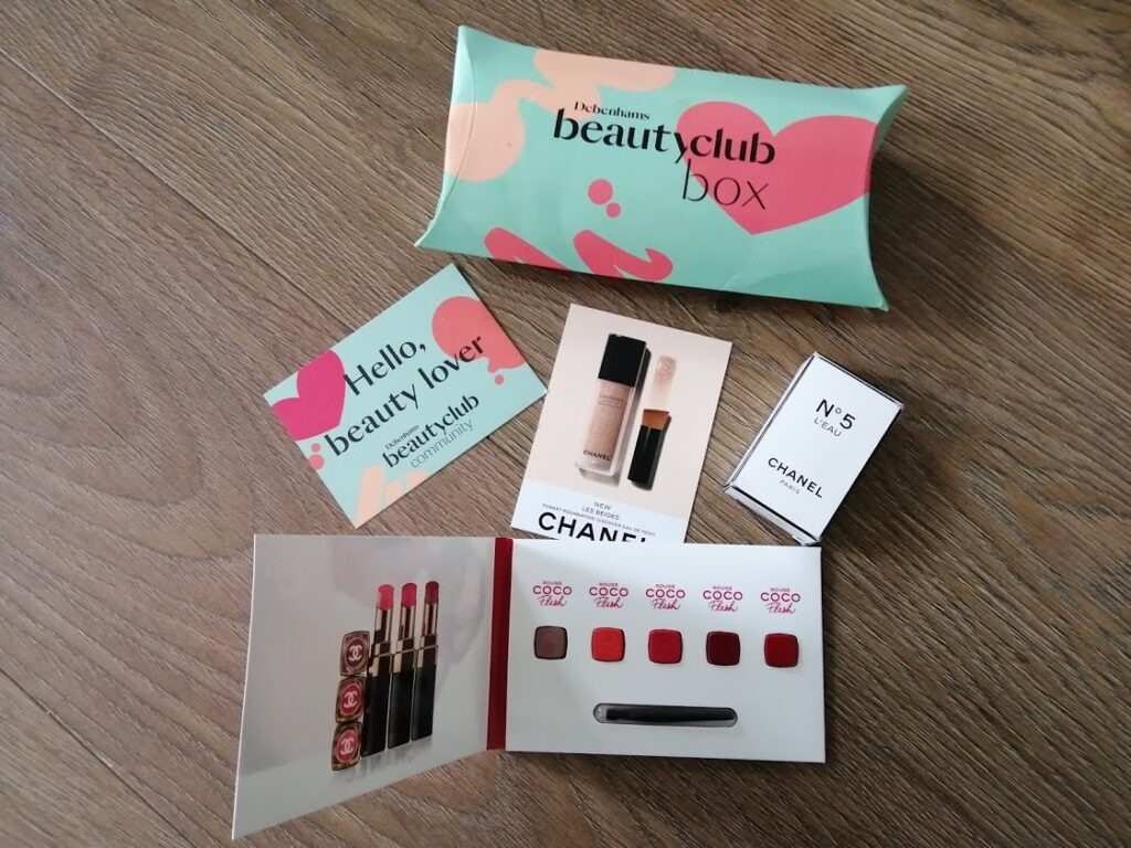free Chanel samples from Debenhams Beauty Club