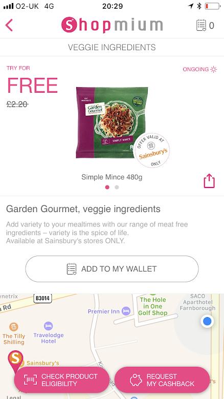 free food & drink on shopmium