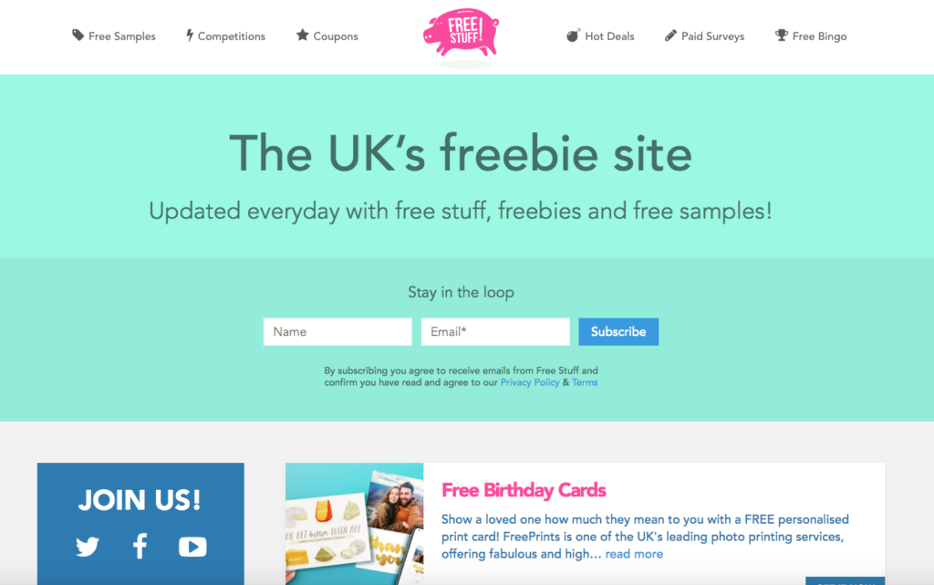 freestuff.co.uk freebie site