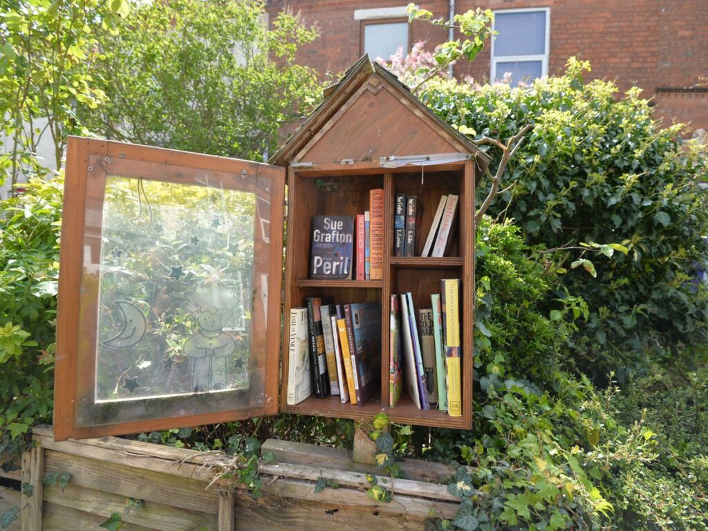 get free books and magazines with a little free library