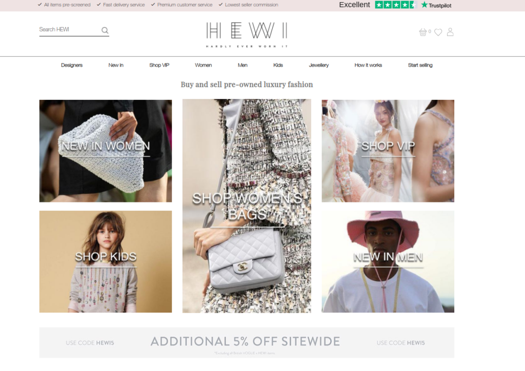 sell clothes online with HEWI