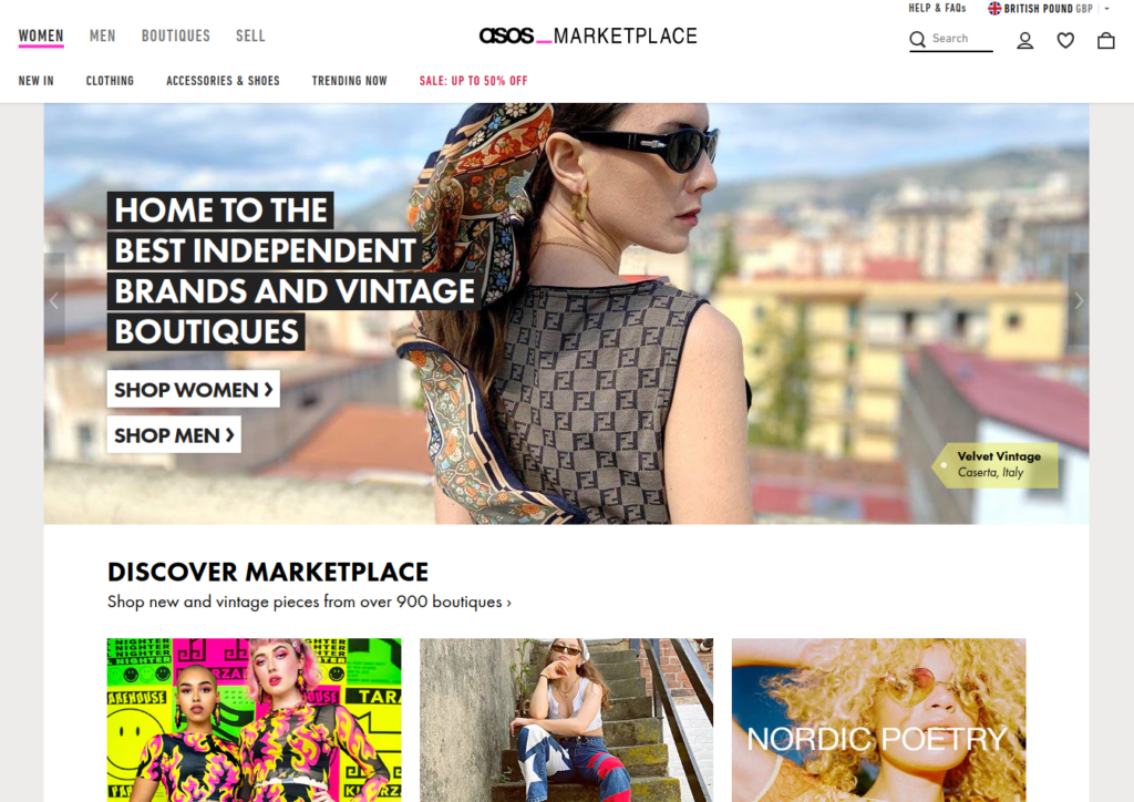 sell clothes online with ASOS marketplace