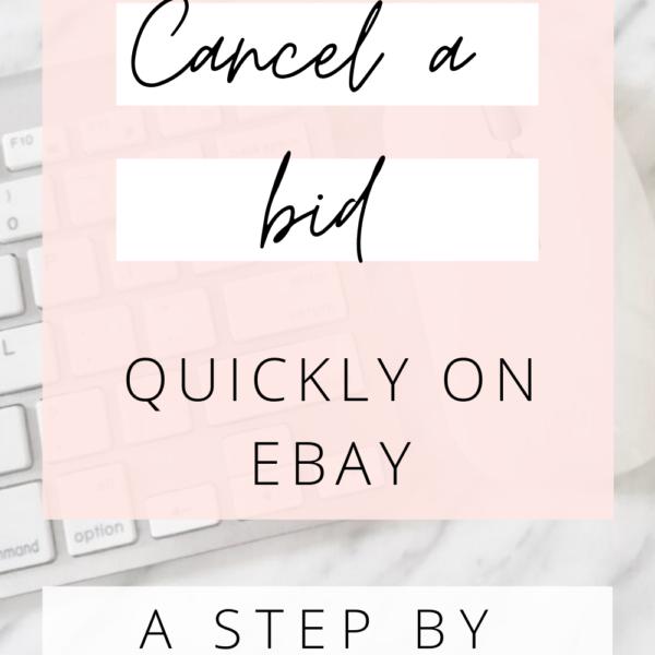 cancel a bid on ebay