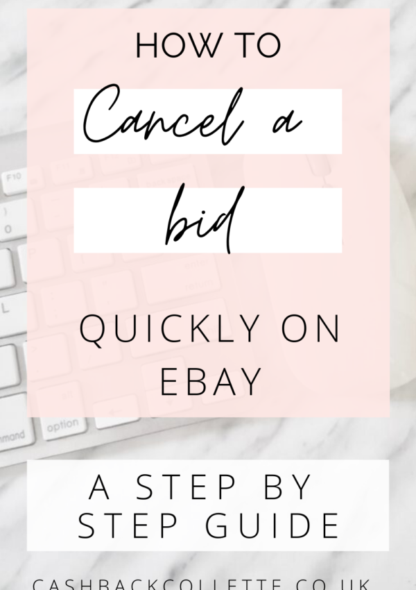 cancel a bid on ebay