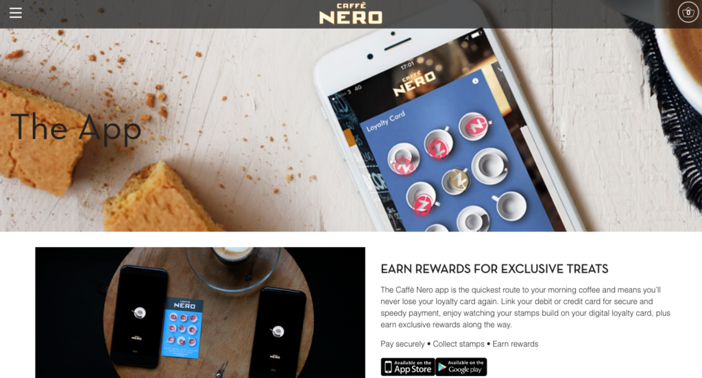 Caffe Nero loyalty card app