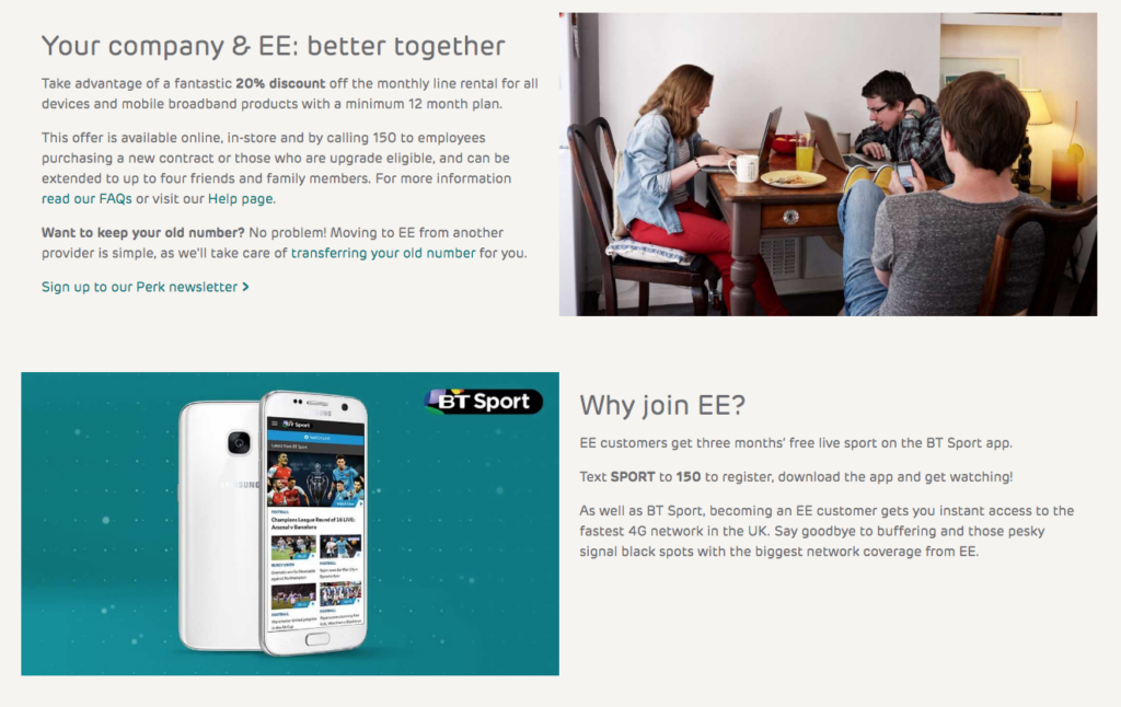 EE Rewards BT Sport