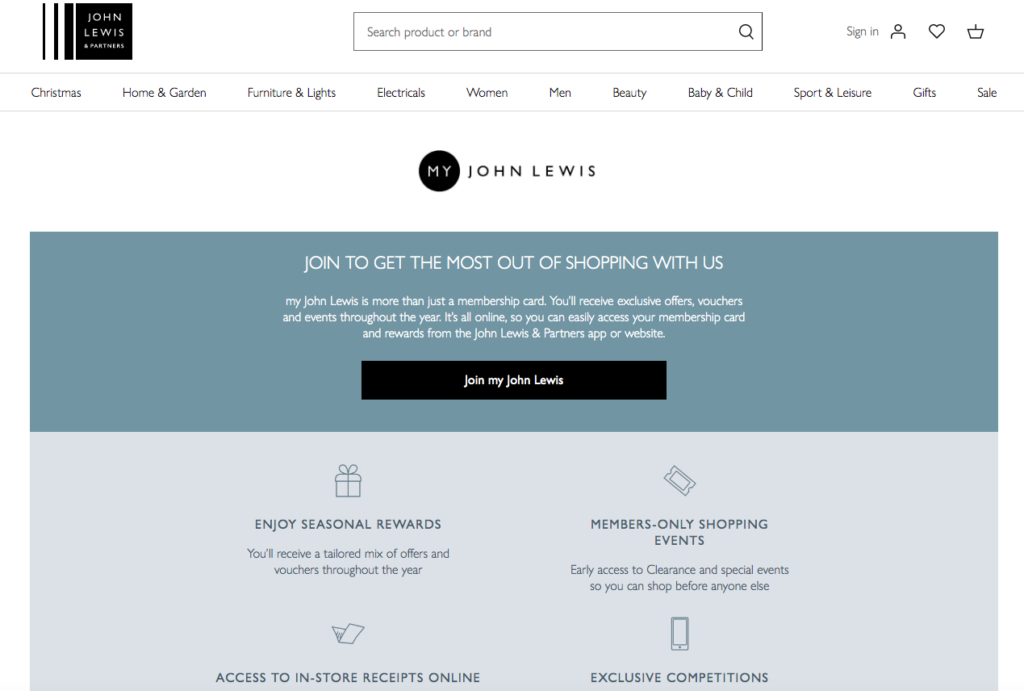 John Lewis Loyalty Scheme