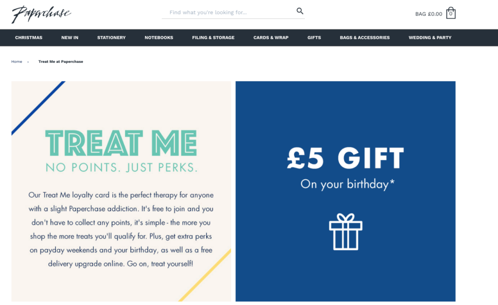 Paperchase loyalty card