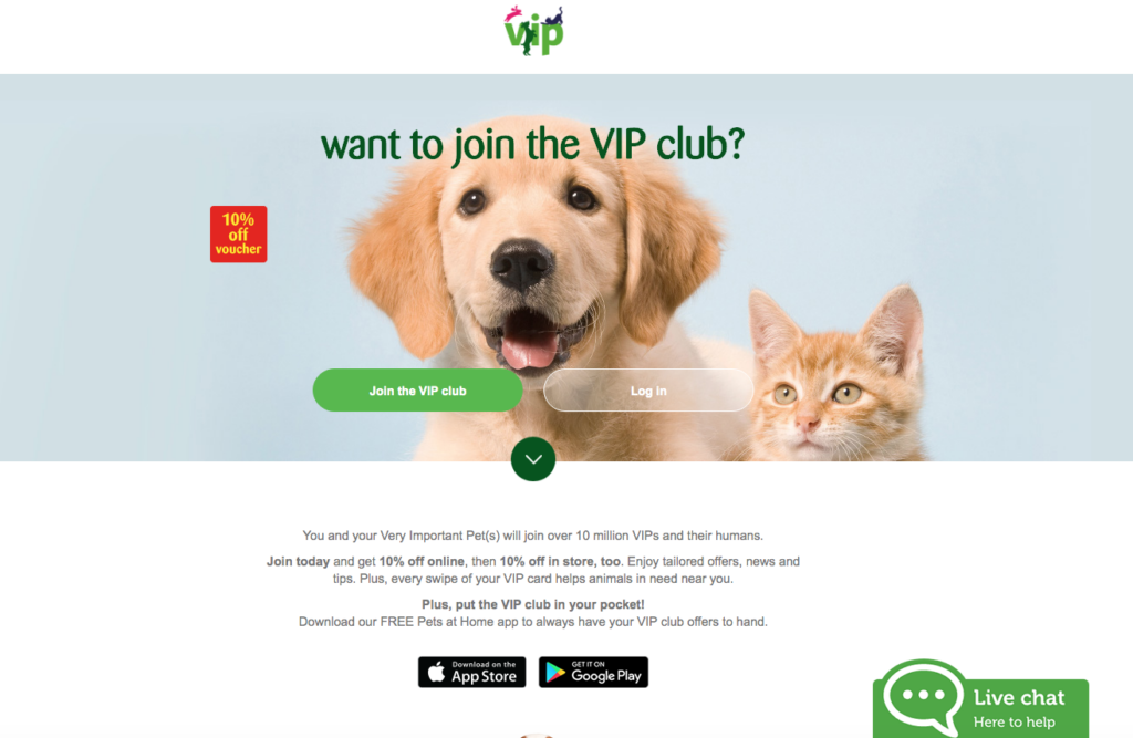 Pets at Home VIP Loyalty Card