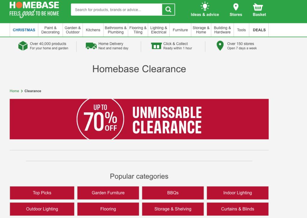 Homebase clearance cheap furniture