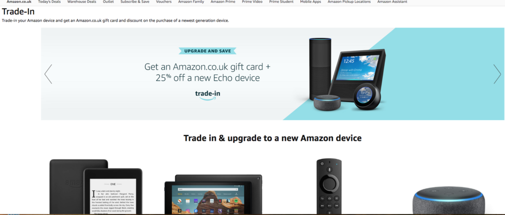 Amazon trade in