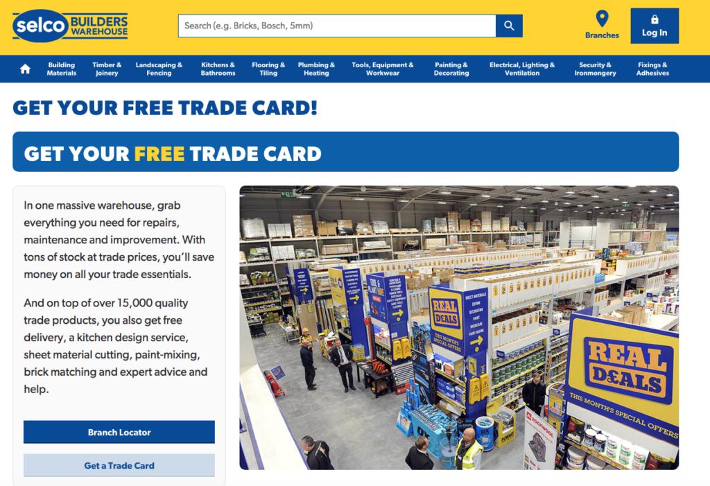 Selco trade card