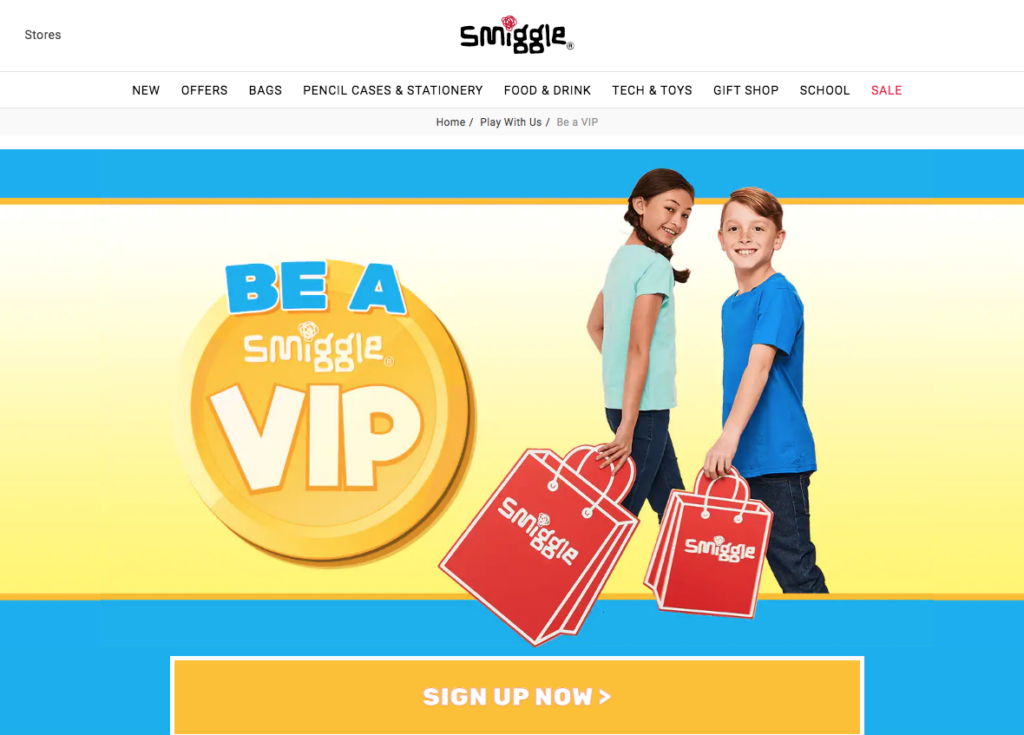 Smiggle VIP loyalty card