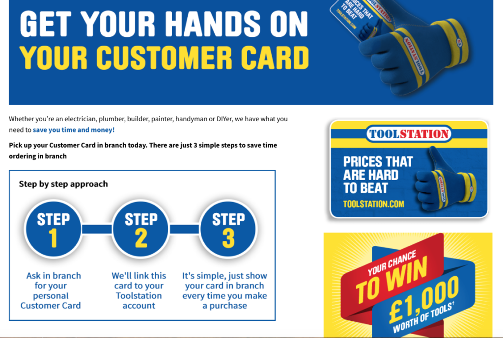 Toolstation customer card