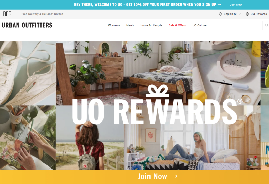 Urban Outfitters UO Rewards