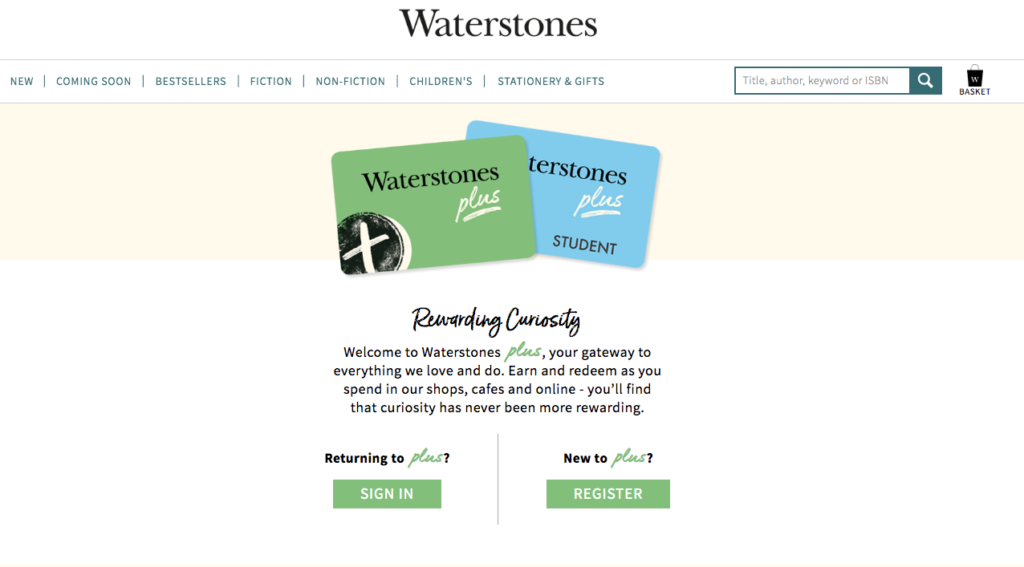 Waterstones loyalty card