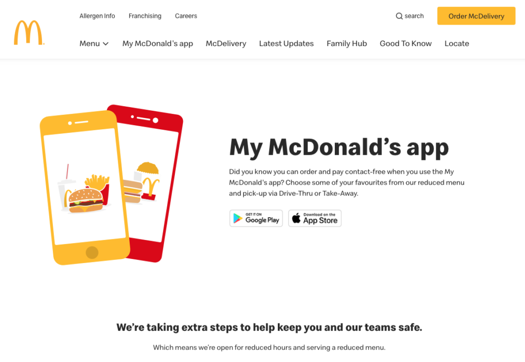 McDonald's loyalty app