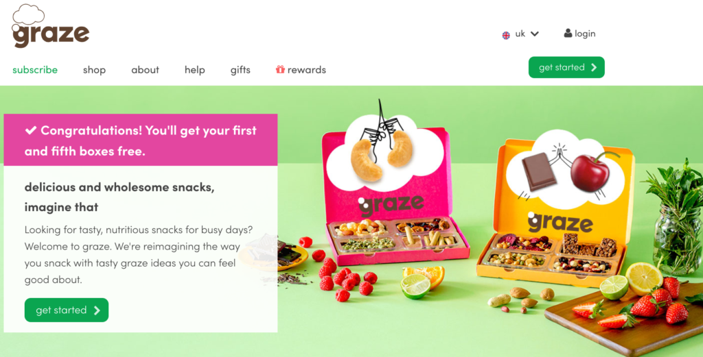 free first and fifth graze box
