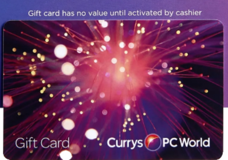 Free £5 Currys Gift Card -1,000+ Available!