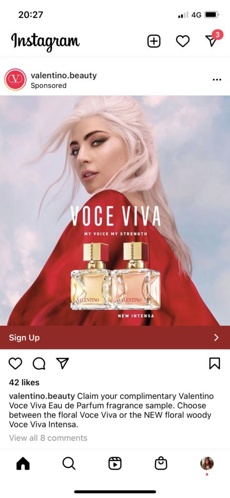 Valentino SoPost freebie instagram