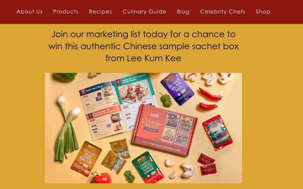 Lee kum kee free sample box