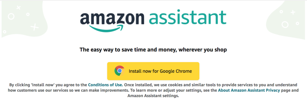 Browser extensions - Amazon assistant