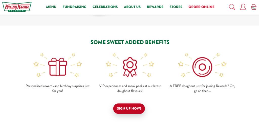Krispy Kreme rewards benefits