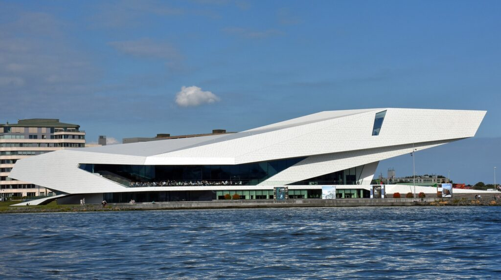 The Eye Film Museum in Amsterdam; a great way to spend an evening in Amsterdam Noord.
