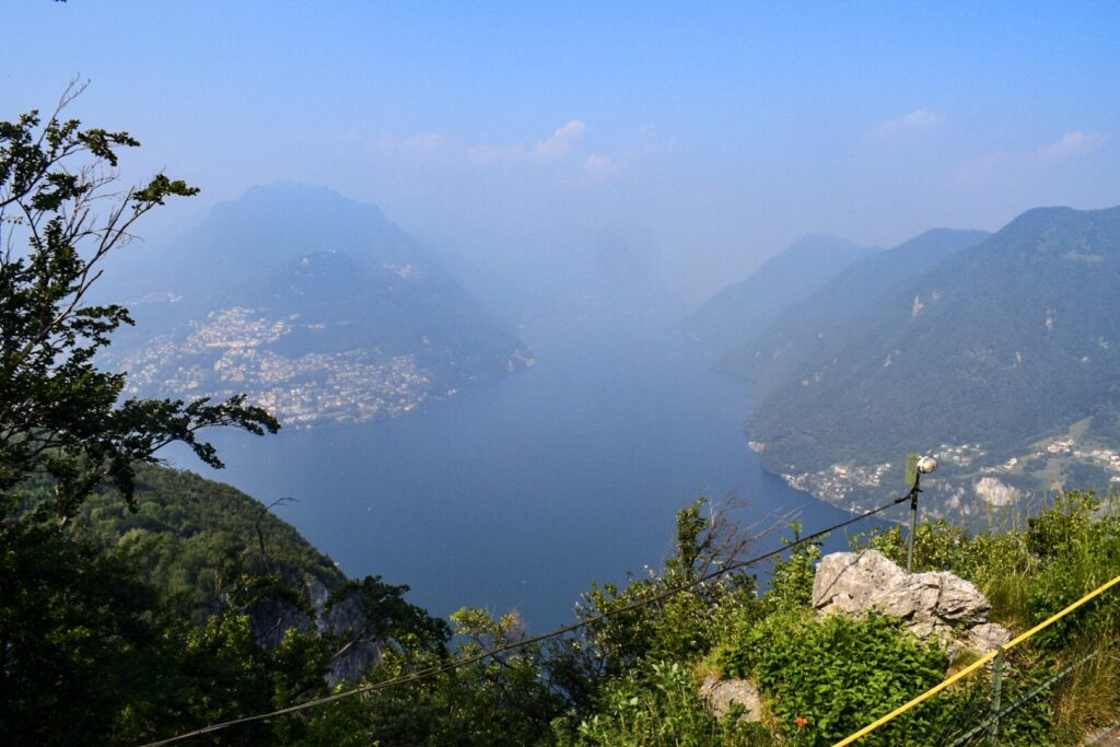 Another view of the floating peaks from Monet San Salvatore in Lugano.
