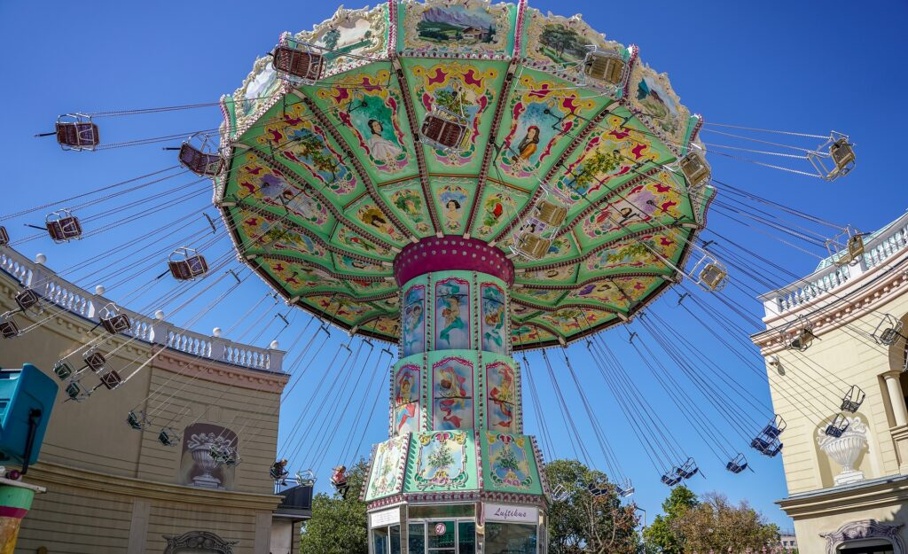 Stock photo of a ride at prater fun park in Vienna.