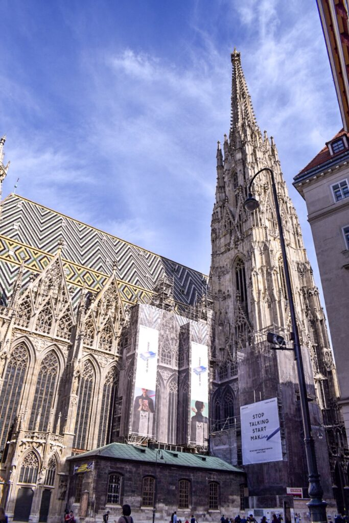St Stephen's Cathedral in Vienna, a must do if you only have 72 hours in Vienna.