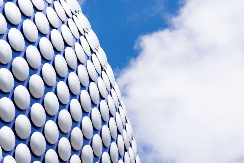 A stock image of the bubbled selfridges building, pat of the bullring shopping centre in Birmingham.