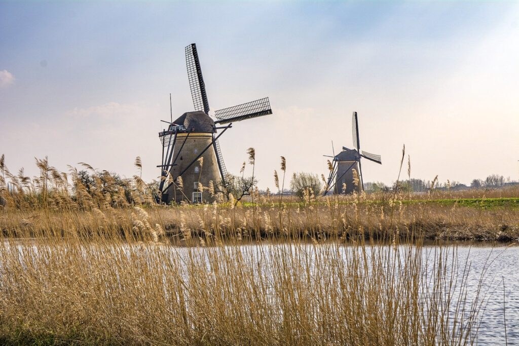 Windmills in Holland, one of the views you'll see at the This is Holland Experience, a great wa to spend an evening in Amsterdam Noord.