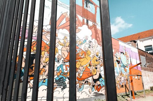 Anmural from the Brussels Comic Book route