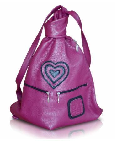 Wonderful Women 100% Leather Backpacks Hearts