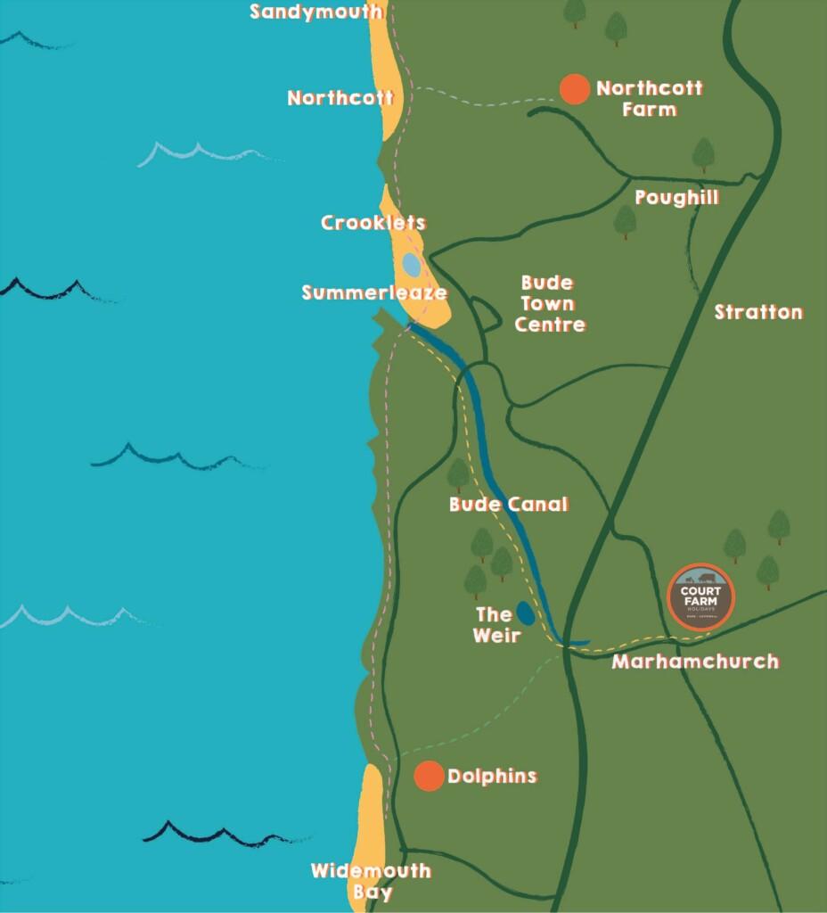 Court-Farm-Bude-Map